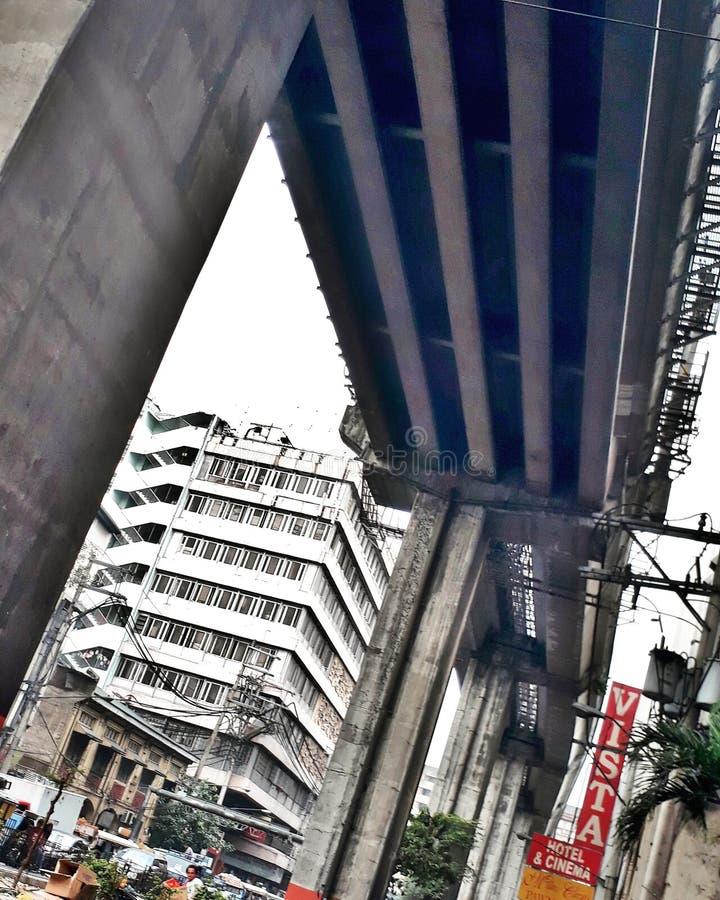 ferrocarril del tránsito de Manila imagen de archivo libre de regalías