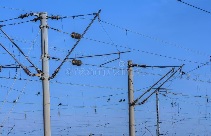 Ferrocarril eléctrico foto de archivo libre de regalías