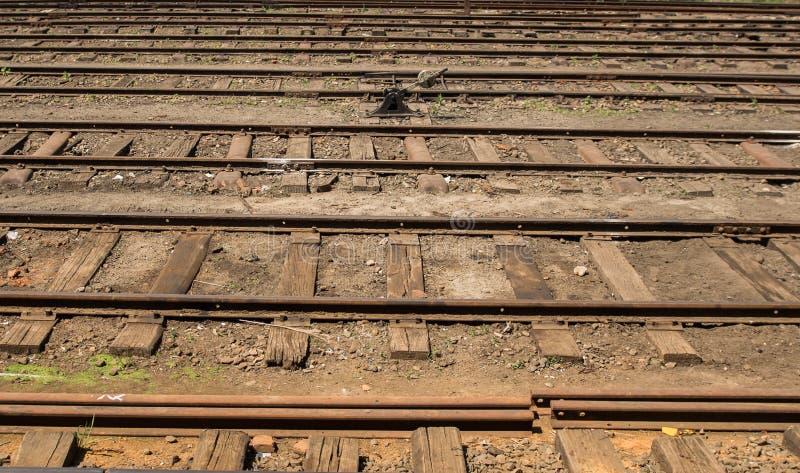Ferrocarril en Asia HATTON, SRI LANKA - CIRCA EL 15 de enero de 2017 fotografía de archivo libre de regalías