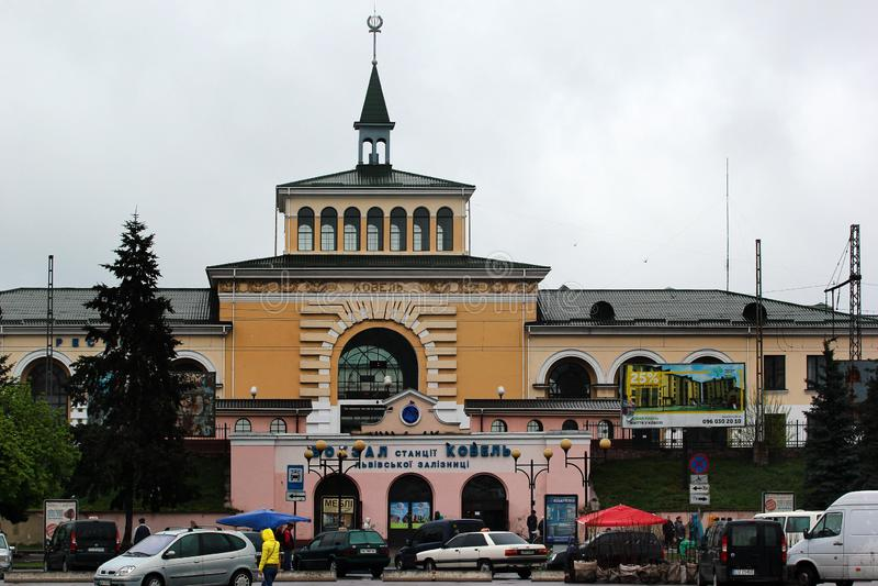 Ferrocarril en Kovel, Ucrania fotos de archivo