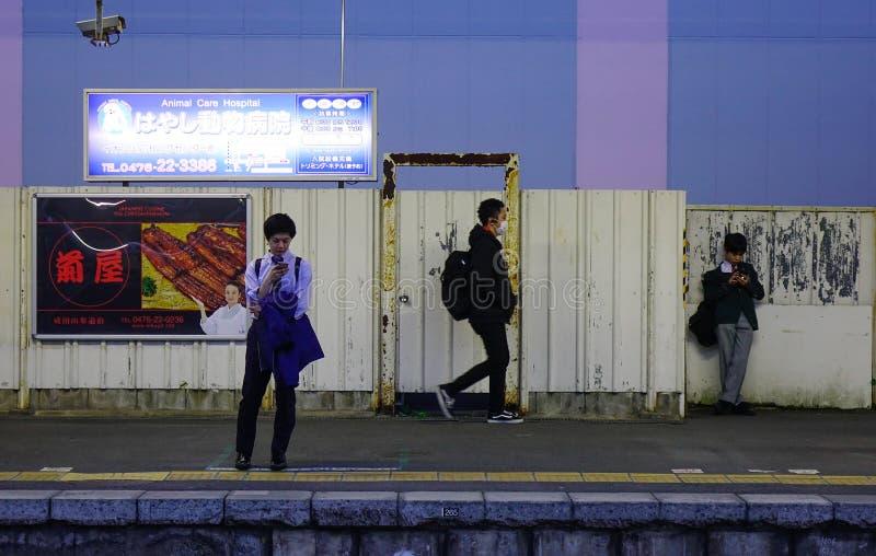 Ferrocarril en Osaka, Jap?n imagen de archivo