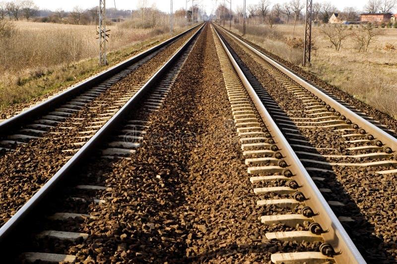 Ferrocarril en Polonia fotografía de archivo libre de regalías