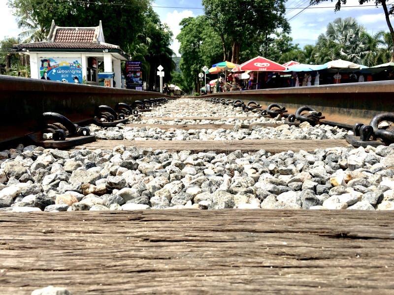 Ferrocarril en Tailandia foto de archivo libre de regalías