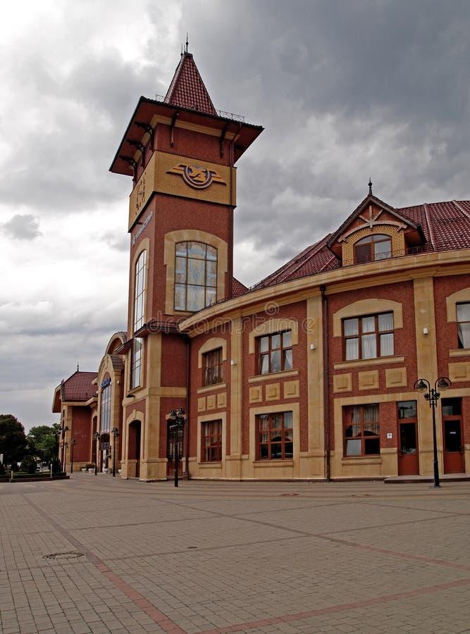Ferrocarril en Uzgorod fotos de archivo
