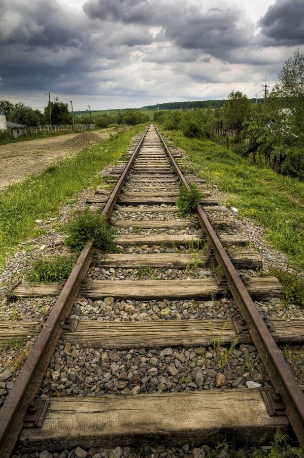 Ferrocarril hermoso viejo fotografía de archivo libre de regalías