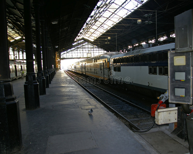 Ferrocarril inactivo vacío fotografía de archivo libre de regalías