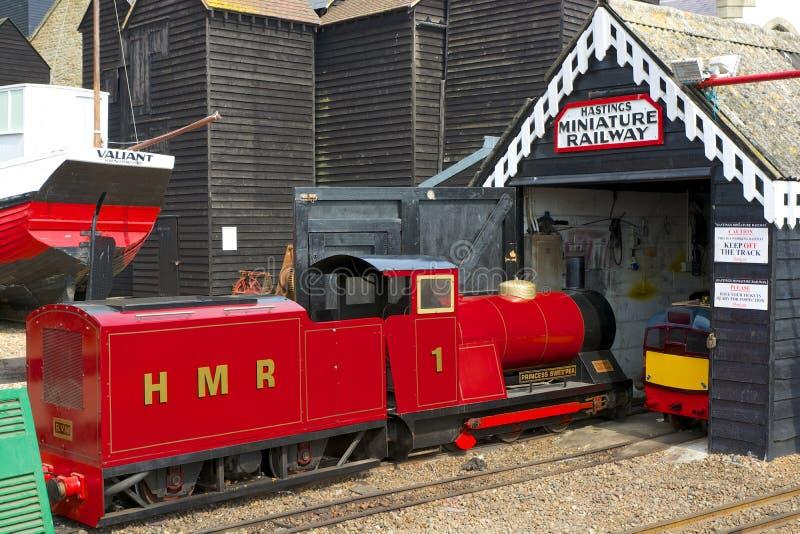 Ferrocarril miniatura en Hastings, Inglaterra fotografía de archivo
