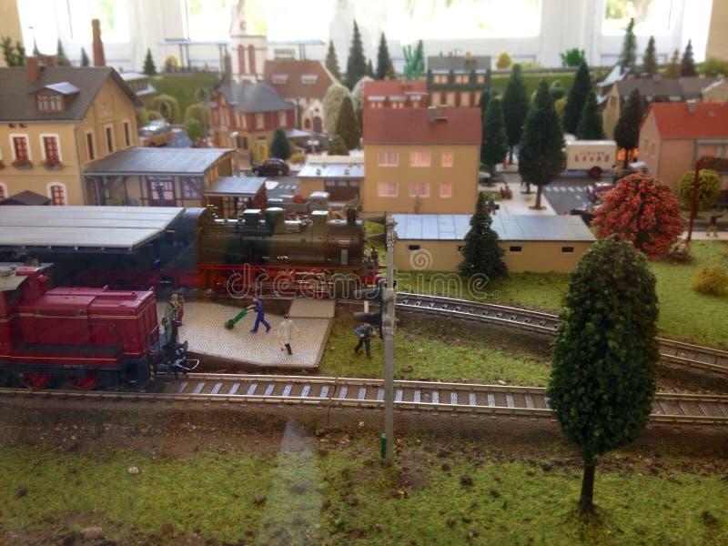 Ferrocarril modelo foto de archivo libre de regalías
