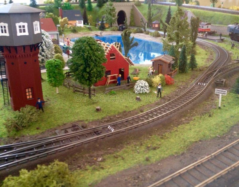 Ferrocarril modelo foto de archivo
