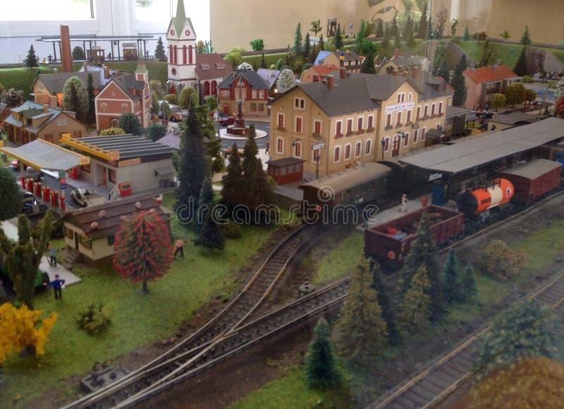 Ferrocarril modelo fotos de archivo libres de regalías