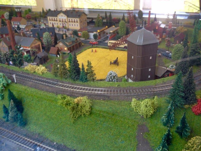 Ferrocarril modelo imágenes de archivo libres de regalías