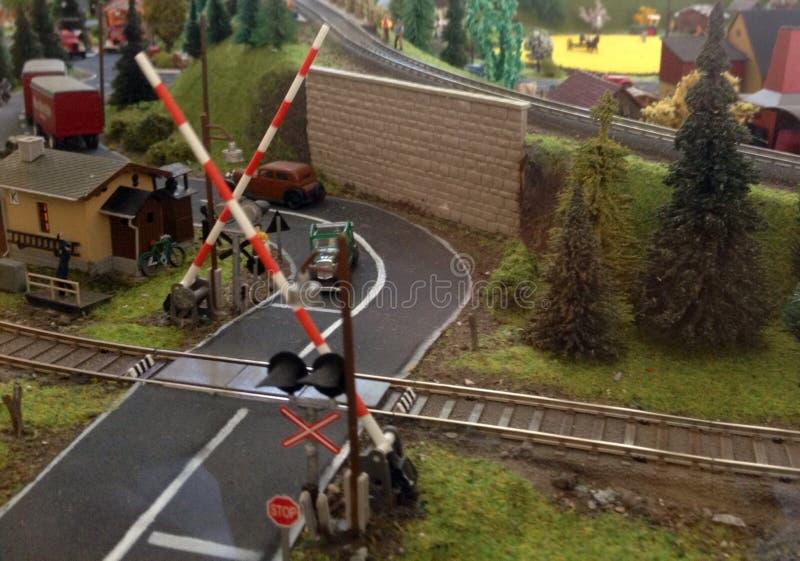 Ferrocarril modelo fotografía de archivo libre de regalías