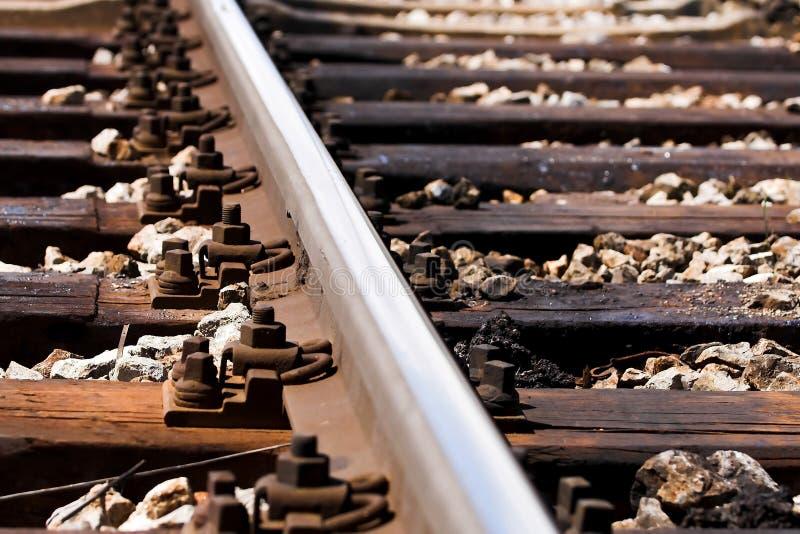 Ferrocarril - pistas del tren fotos de archivo