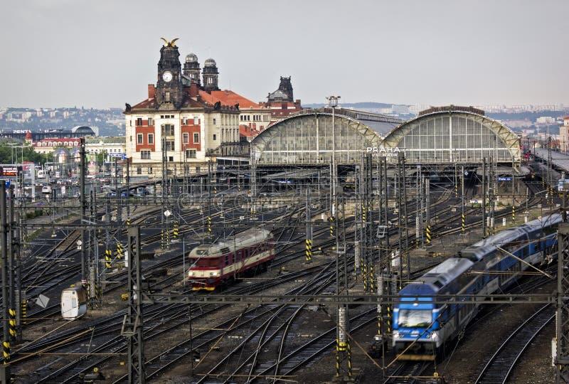 Ferrocarril, Praga fotografía de archivo libre de regalías