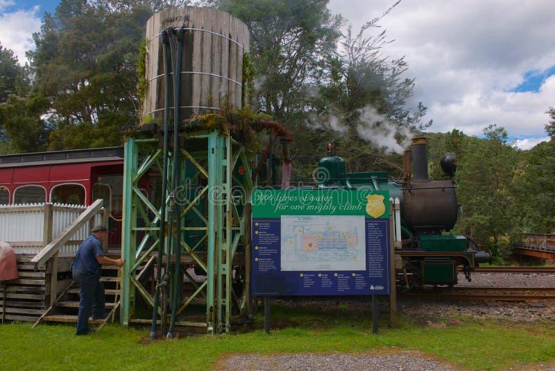 Ferrocarril Tasmania del desierto del tren del vapor fotografía de archivo libre de regalías