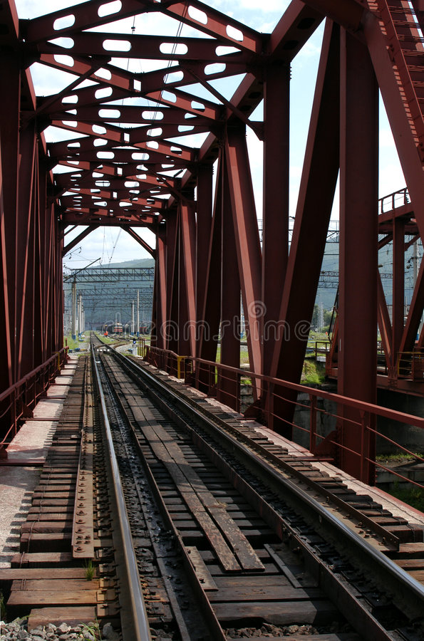 Ferrocarril transiberiano foto de archivo