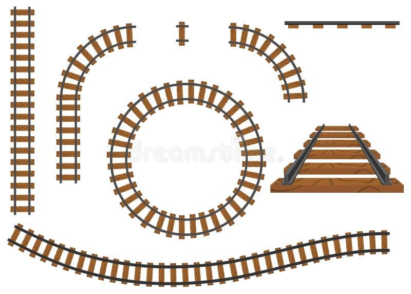 Ferrocarril, un sistema de pistas de ferrocarril Carriles y durmientes libre illustration