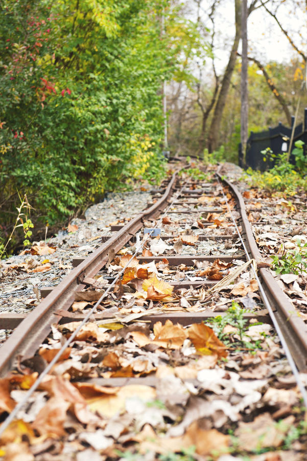 Ferrocarril viejo imagen de archivo