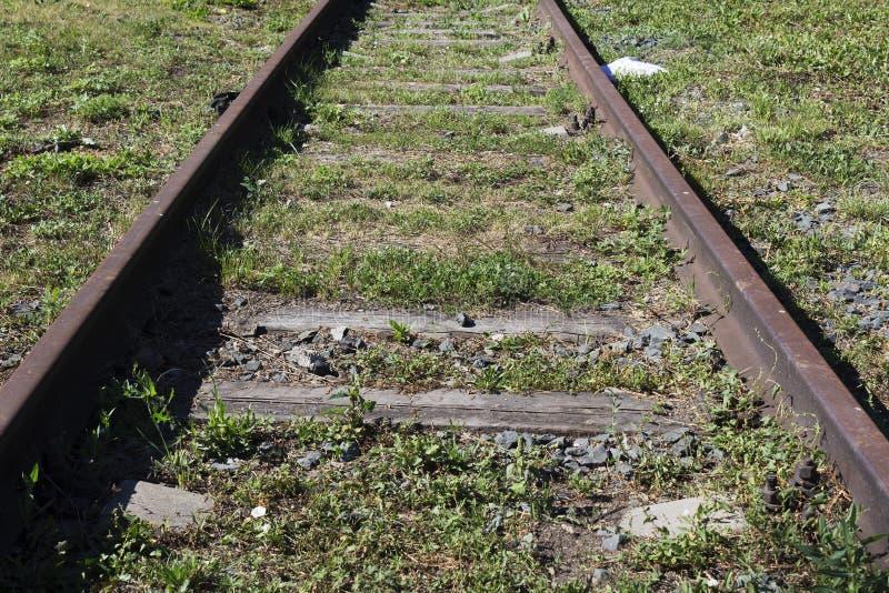 ferrocarril viejo en perspectiva fotografía de archivo libre de regalías