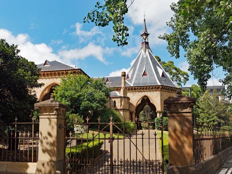Ferrocarril y jardines mortuorios, Sydney, Australia fotografía de archivo