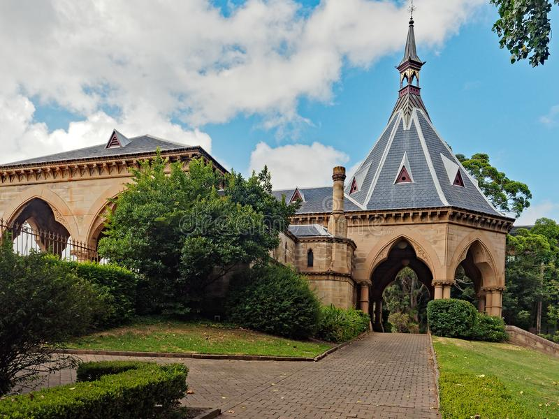 Ferrocarril y jardines mortuorios, Sydney, Australia imagen de archivo libre de regalías
