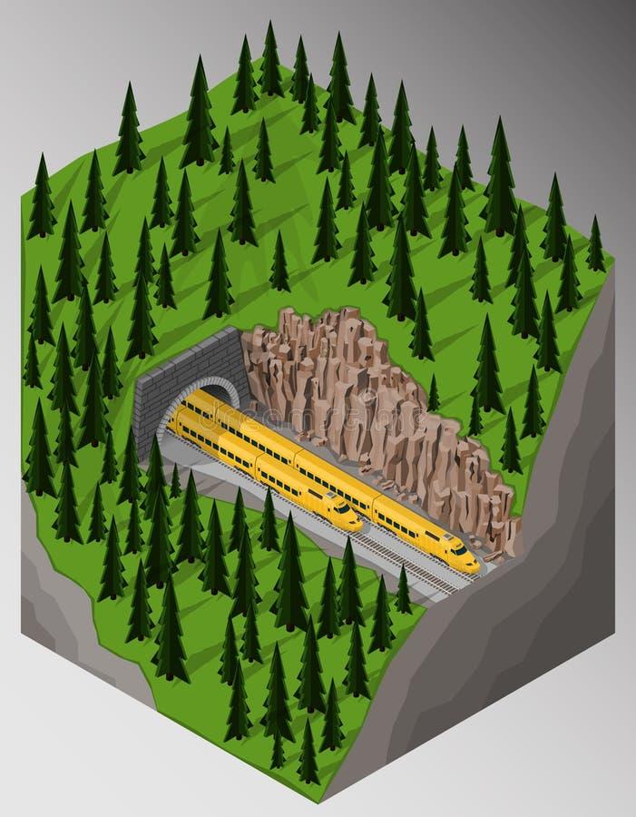 Ferrocarril y trenes libre illustration