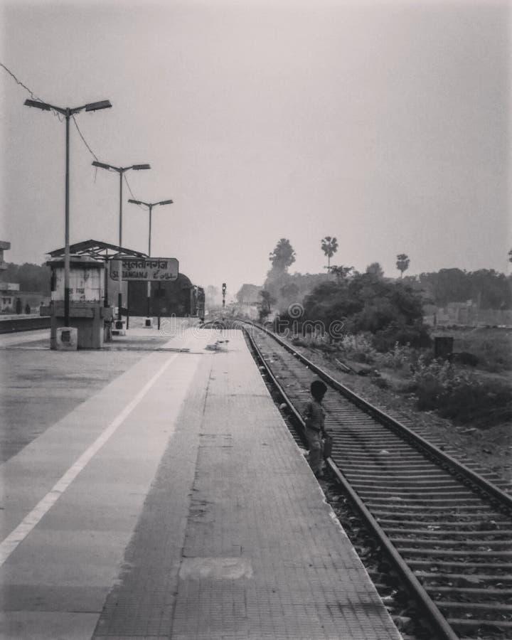 ferrocarriles el corazón de la India imagen de archivo libre de regalías