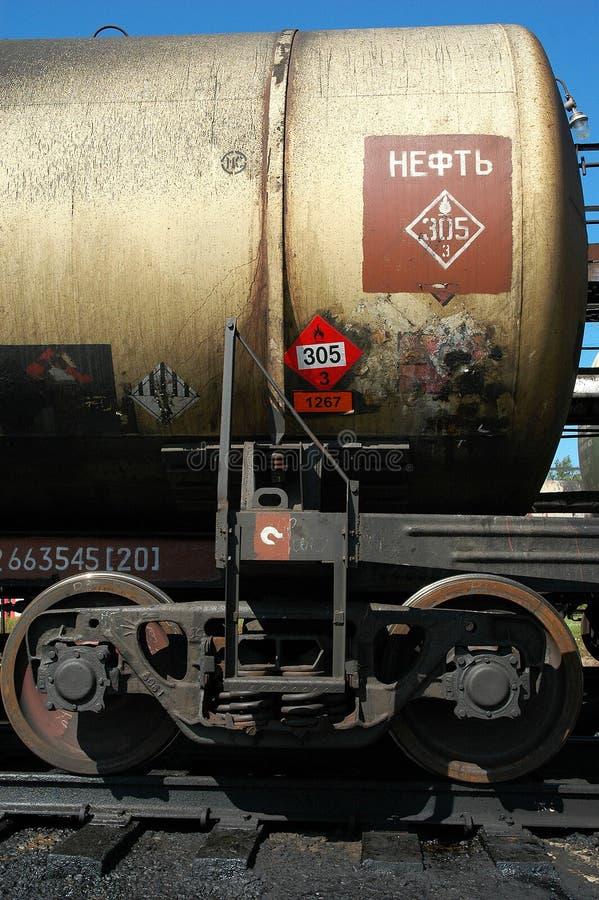 Ferrocarriles rusos. El tanque con petróleo crudo imágenes de archivo libres de regalías