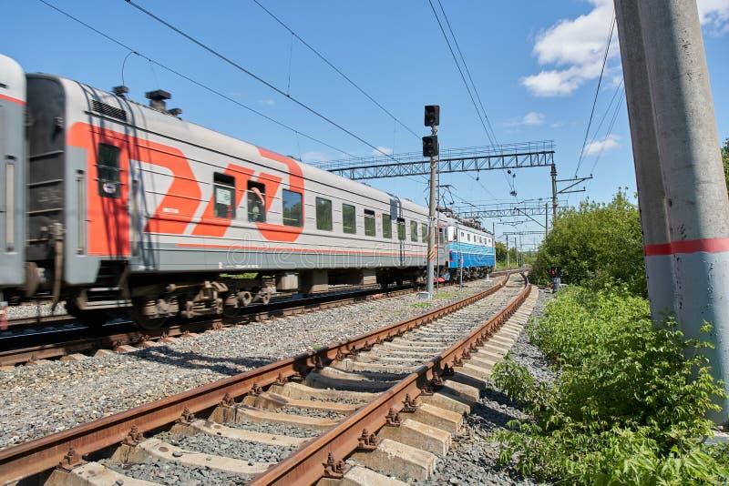 Ferrocarriles rusos foto de archivo libre de regalías