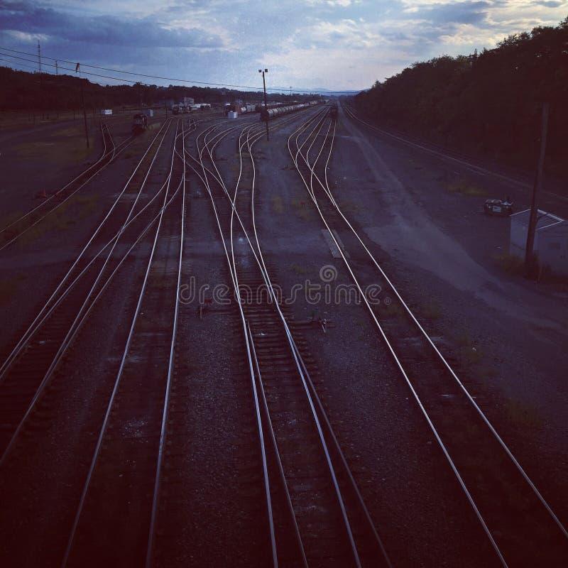 Ferrocarriles vacíos fotografía de archivo libre de regalías