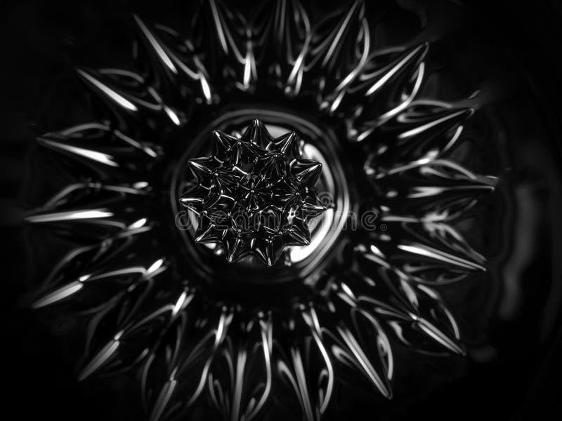 Ferrofluid Närbild royaltyfri fotografi