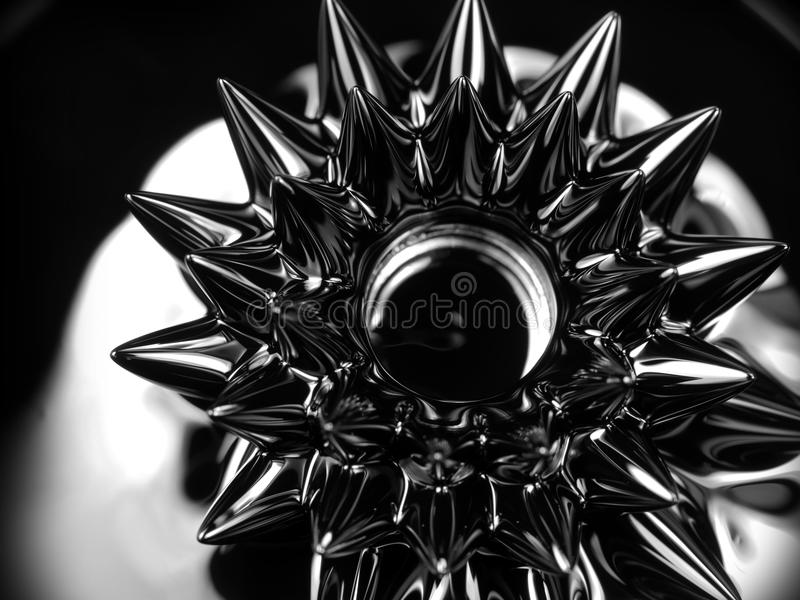 Ferrofluid Närbild royaltyfria bilder