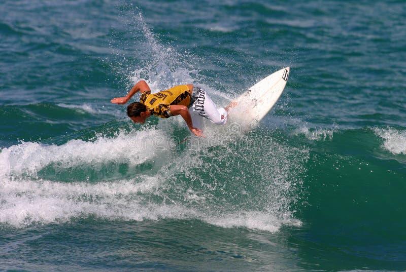 Ferros de Andy do surfista do campeão do mundo imagem de stock
