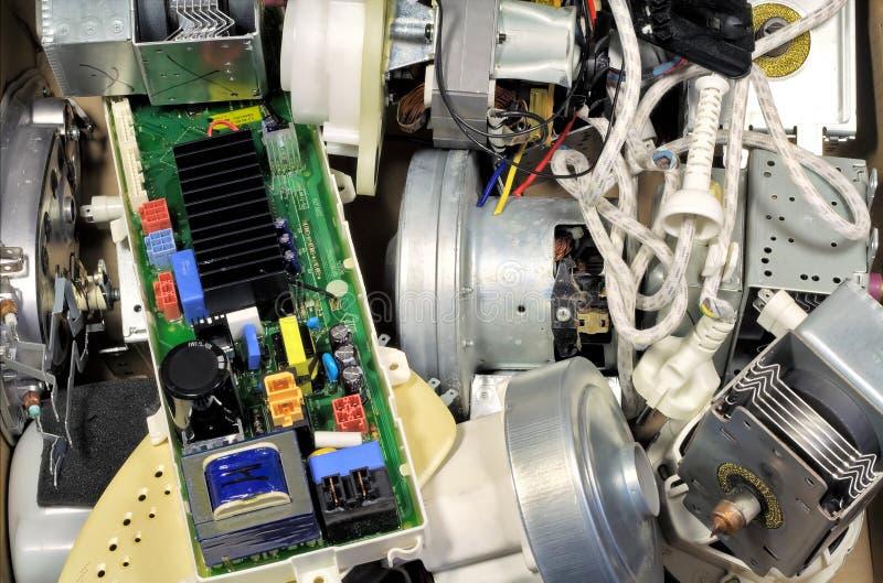 Ferros quebrados, e motores em uma descarga de lixo fotos de stock royalty free