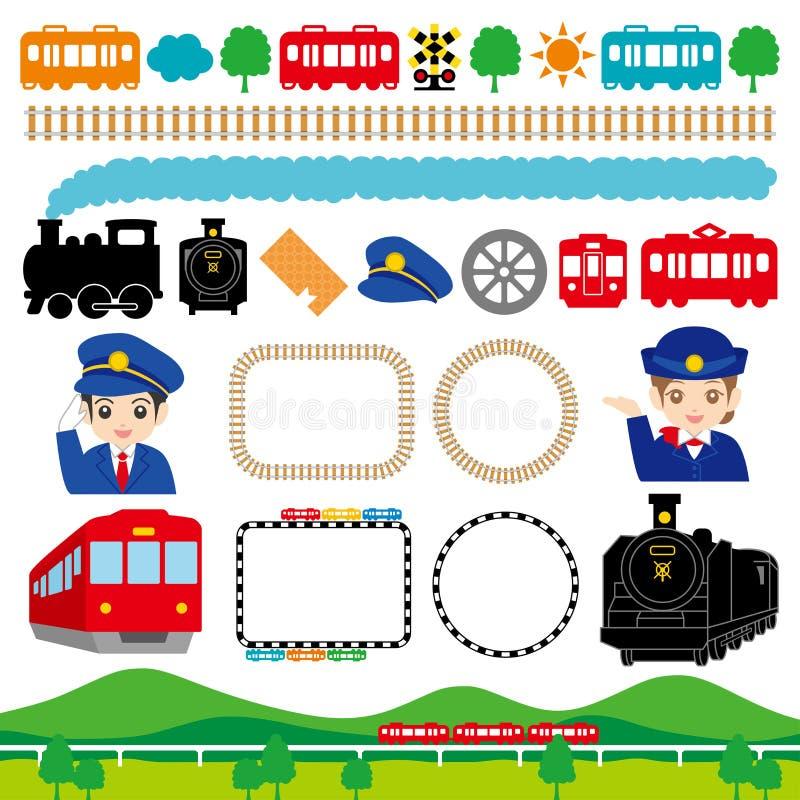 Ferrovia illustrazione di stock