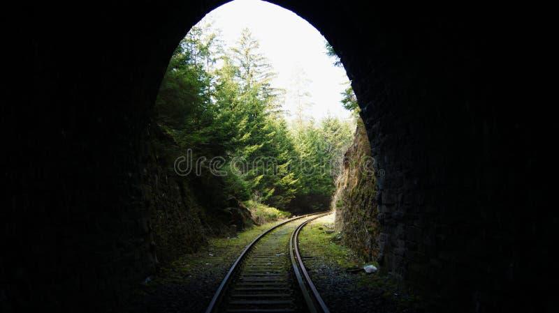 Ferrovia abbandonata al tunnel immagine stock libera da diritti