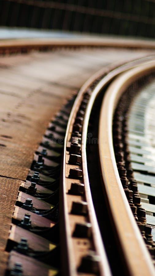 Ferrovia abbandonata nelle montagne immagine stock libera da diritti
