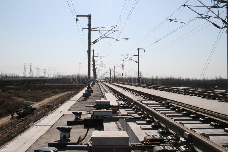 Ferrovia ad alta velocità cinese fotografia stock
