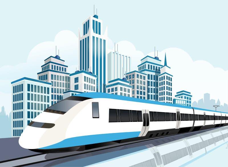 Ferrovia ad alta velocità per lo stile di vita futuro royalty illustrazione gratis