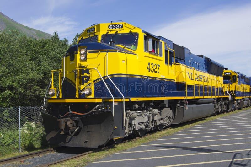 Ferrovia dell'Alaska immagine stock