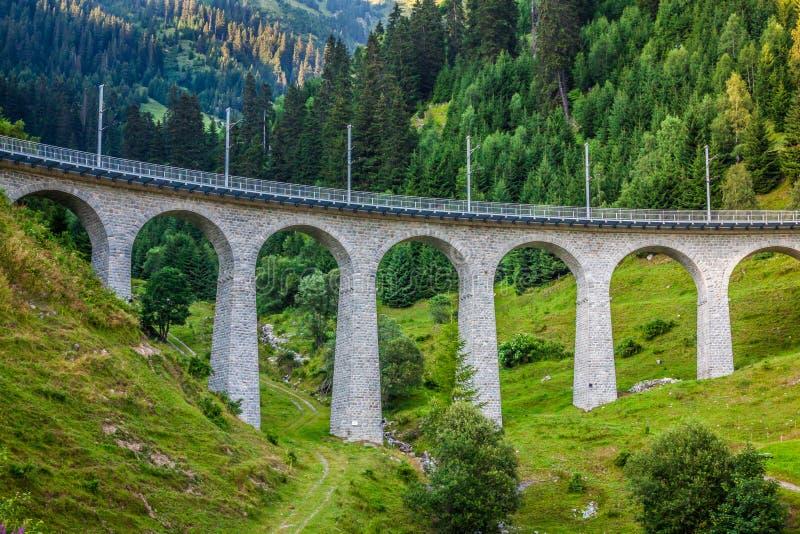 Ferrovia dell'Arosa - di Chur switzerland fotografie stock
