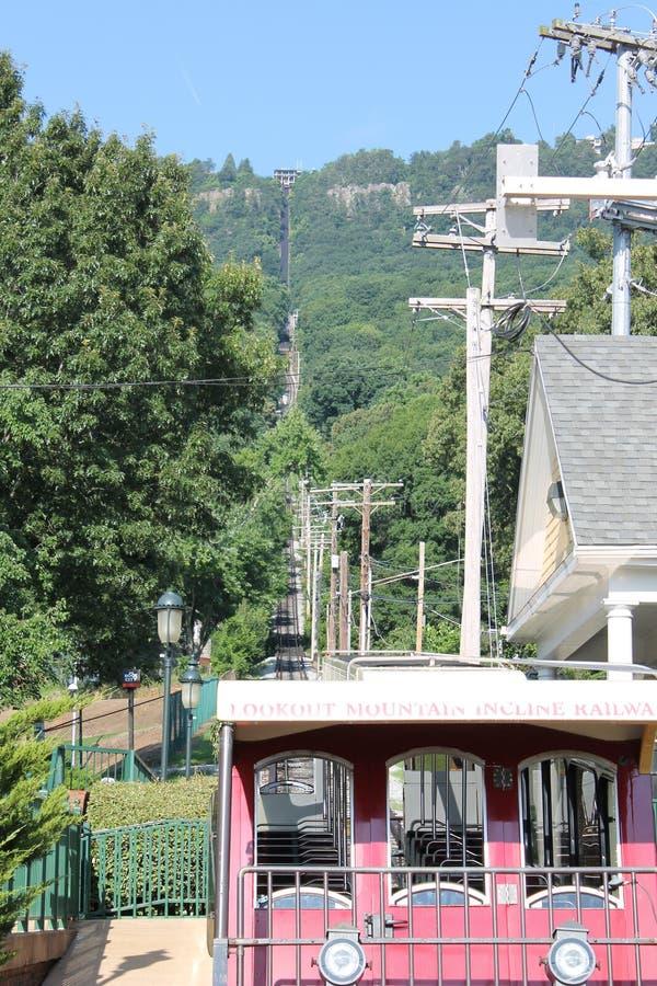Ferrovia della pendenza della montagna dell'allerta, Chattanooga, TN immagini stock