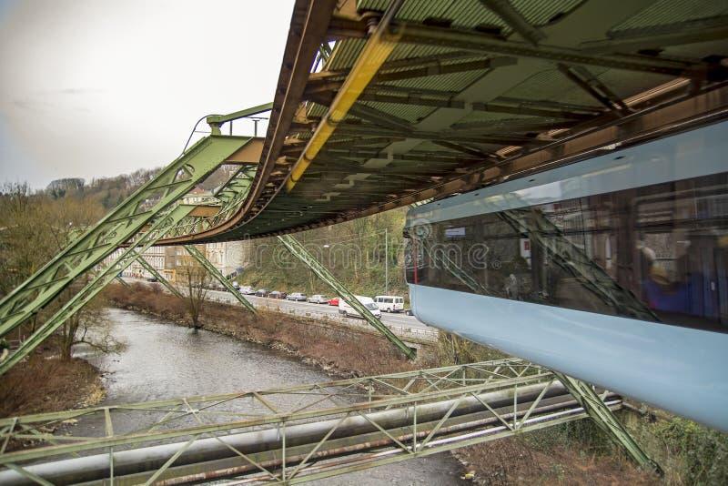 Ferrovia della sospensione di Wuppertal fotografie stock