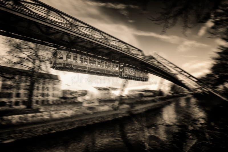 Ferrovia della sospensione di Wuppertal fotografie stock libere da diritti