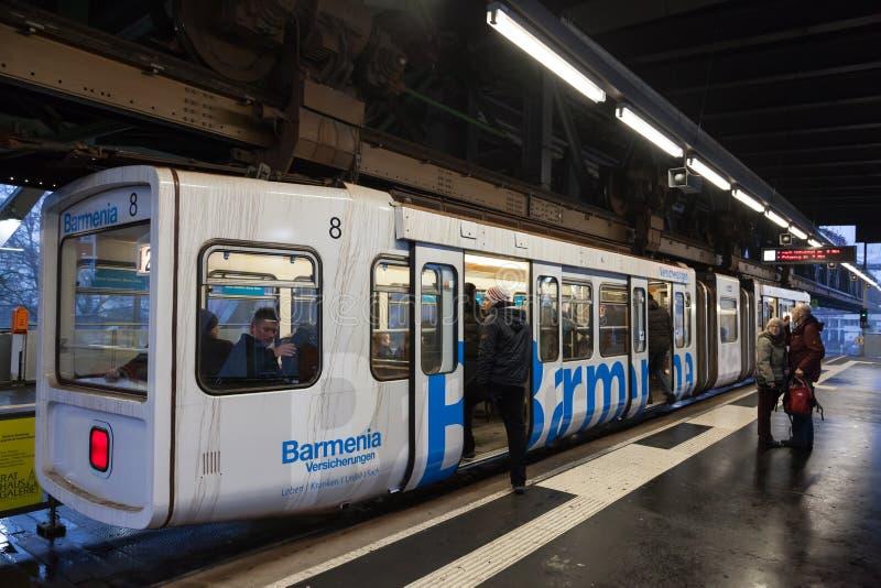 Ferrovia della sospensione di Wuppertal, Germania fotografie stock