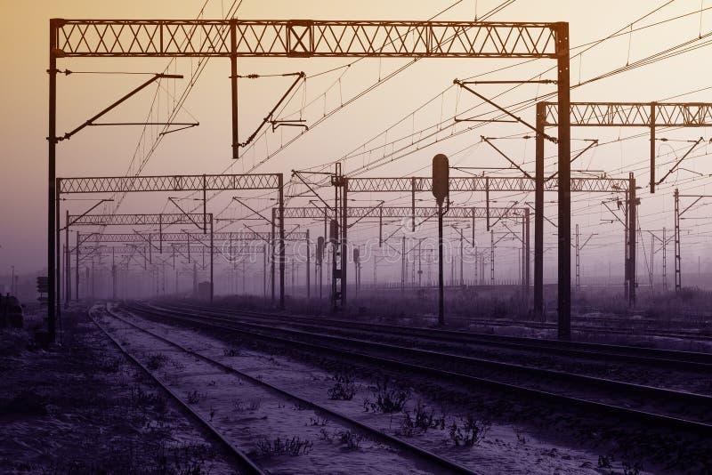 Ferrovia della trazione fotografie stock libere da diritti