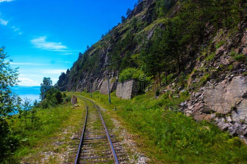 Ferrovia di Circum-Baikal in Siberia fotografia stock libera da diritti