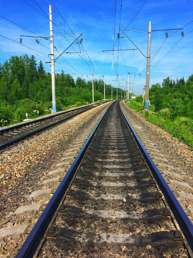 Ferrovia di estate fotografia stock