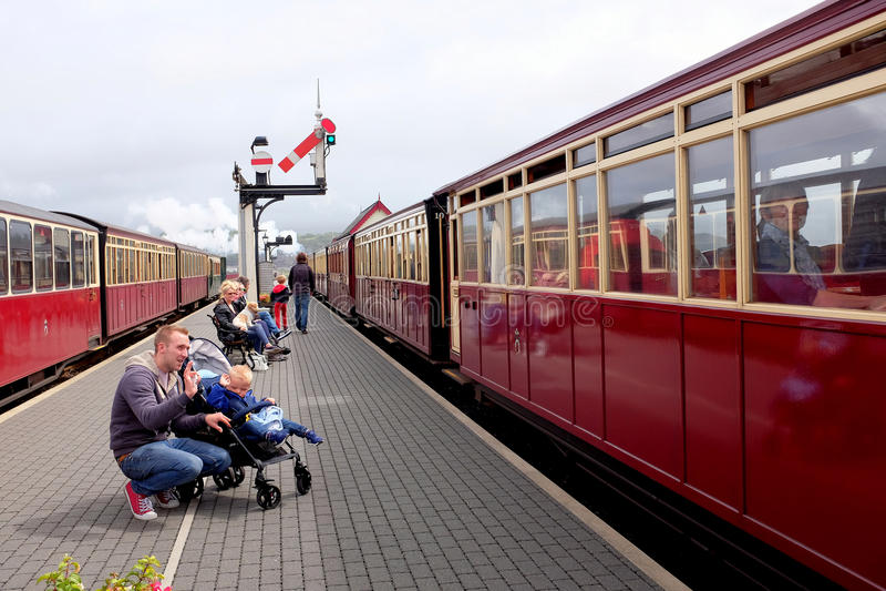 Ferrovia di Festiniog, Porthmadog, Galles fotografie stock