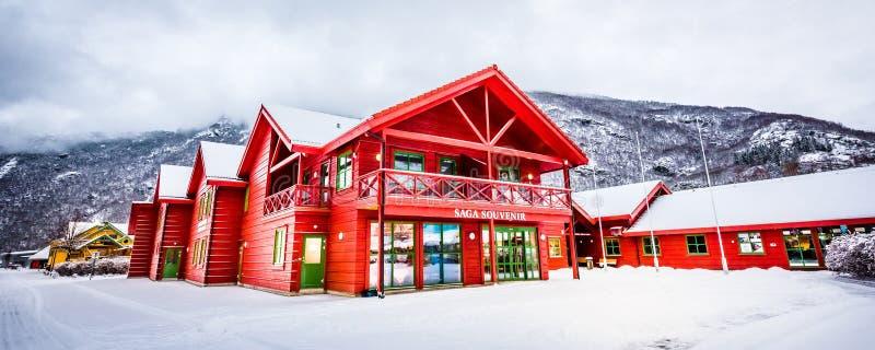 Ferrovia di Flam in Norvegia fotografia stock libera da diritti